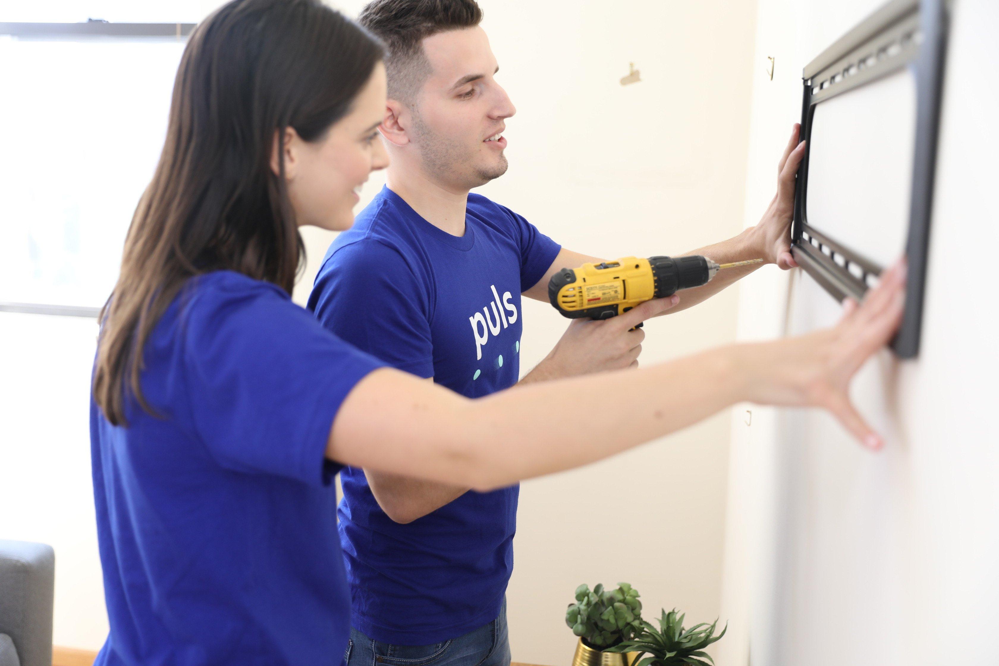 Puls TV wall mount installation