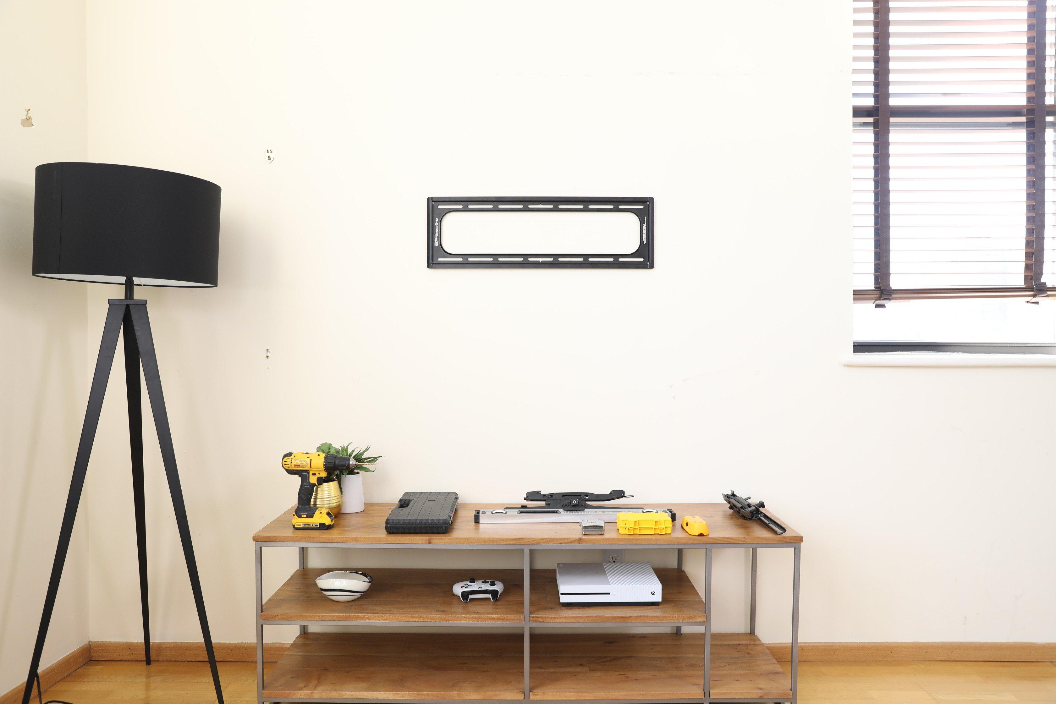 Fixed TV bracket installation